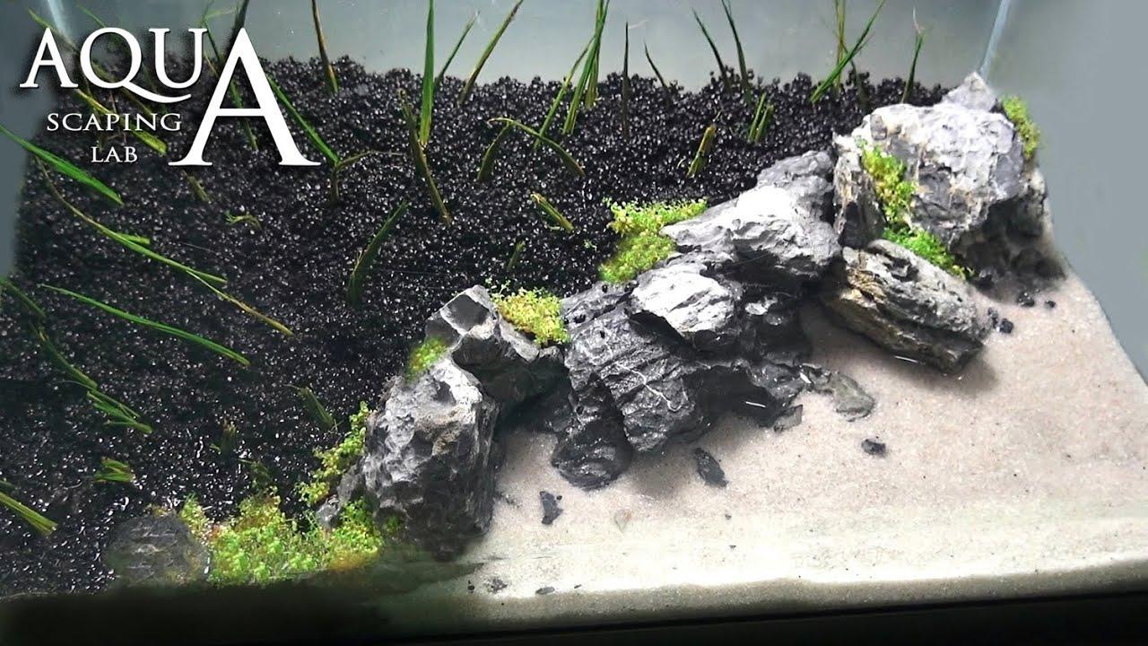 Aquascaping Lab Tutorial Iwagumi Aquarium Quot Desert Island Beach Quot Size 40x25x25h 25l Rocks