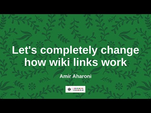 Let's completely change how wiki links work