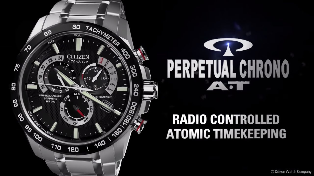 2eda92f2b CITIZEN Eco-Drive Perpetual Chrono A-T Watch (AT4008-51E) - YouTube