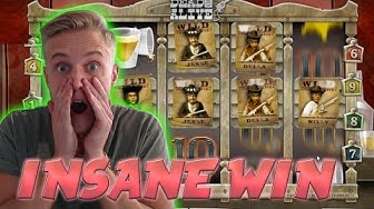 MASSIVE WIN ON Dead or Alive - BIG WIN 2 70euro betsize MEGA WIN with Epic reactions