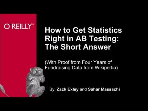 Using Statistics to Predict AB Testing - O'Reilly Webcast