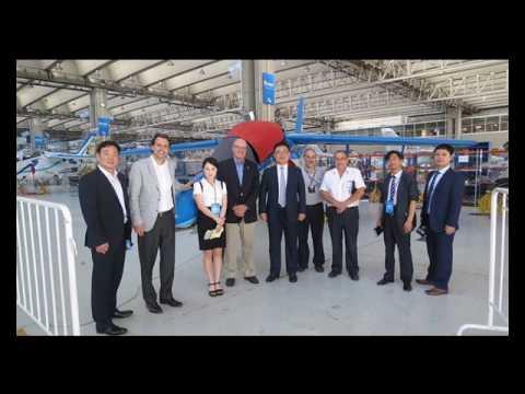 Autoridades de la empresa Coreana KAI Korea Aerospace Industries visitaron FAdeA