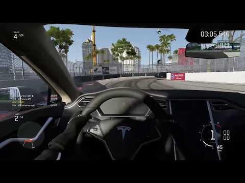 Tesla Model S P85D @ Long Beach