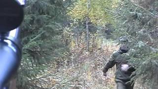 """На лося """"на реву"""" 2010г Elchjagd Russland elk hunt Russia"""