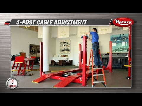 90 Second Know How: 4 Post Cable Adjustment