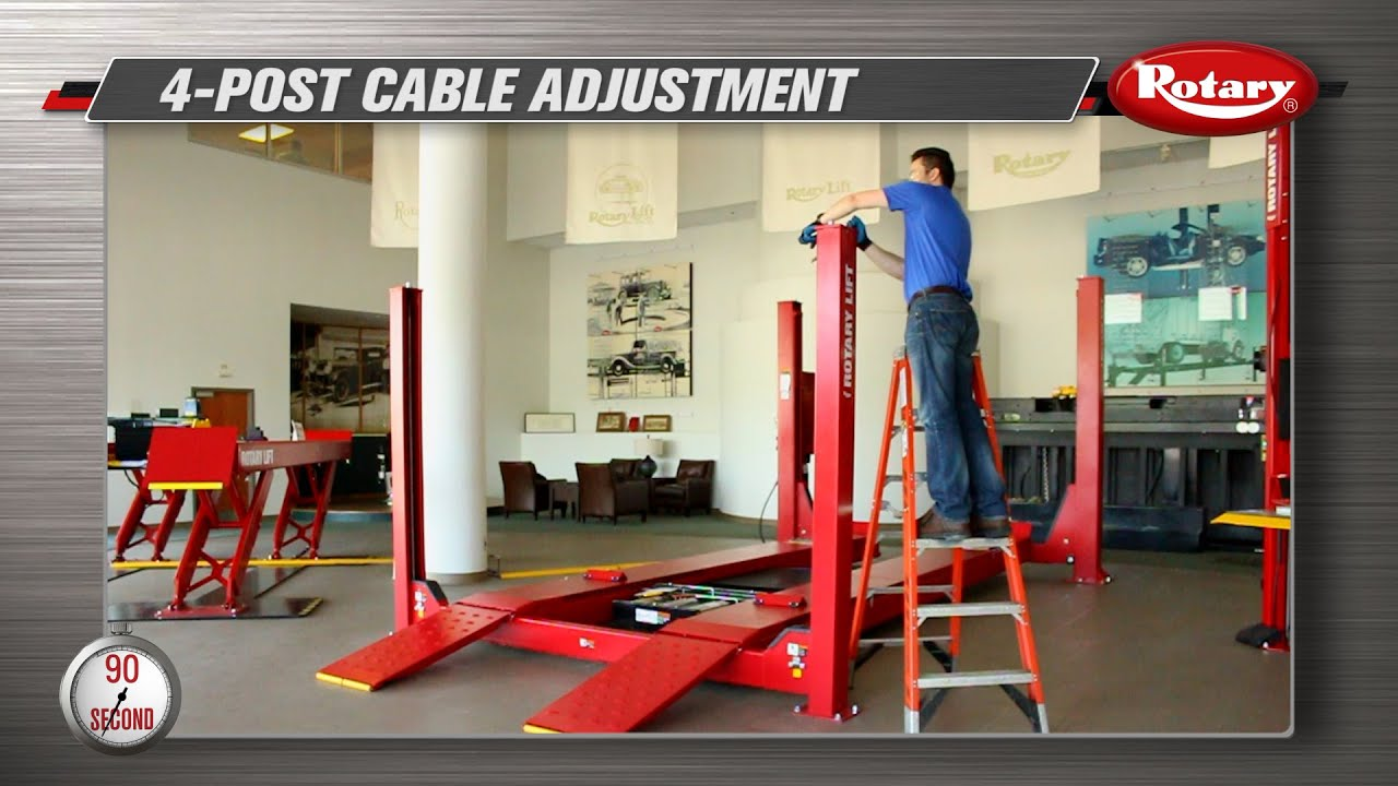90 second know how 4 post cable adjustment youtube