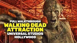 FULL Walking Dead attraction low light walkthrough 2016 at Universal Studios Hollywood