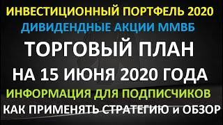 ТОРГОВЫЙ ПЛАН на 15 июня 2020 года - как инвестировать в акции на долгосрок в 2020г.Обзор стратегии