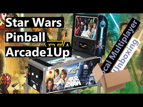 Arcade1Up StarWars Digital Pinball Arcade 2021 - Unboxing from Local Multiplayer