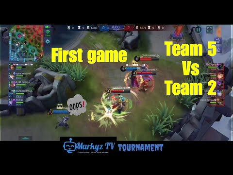 Mobile legends (Markyz TV TOURNAMENT) first game