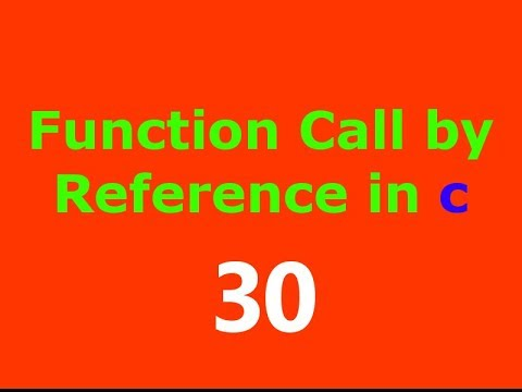 C Programming Tutorial in Hindi - Call By Reference in C