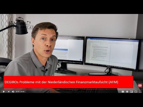DEGIROs Probleme mit der Niederländischen Finanzmarktaufsicht (AFM)