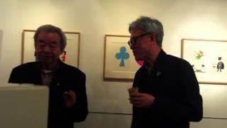 安西水丸さんと和田誠さんアドリブ展2013 スペースYUI.