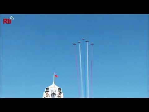 【RTI】Comienzan los ensayos aéreos del Doble Diez frente a la Oficina Presidencial