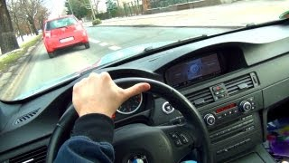 BMW M3 E92   DRIVER Perspective DRIVE in the City Acceleration + Shift down Sound Onboard Inside POV