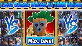 Lanza Dardos Maximo VS TODO minimo | Clash Royale | Kamikaze