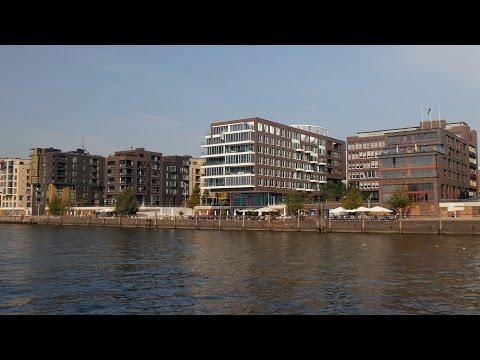 Hamburg, Germany: HafenCity (Harbor City), Grasbrookhafen, Buildings at Dalmannkai - 4K Video Photo