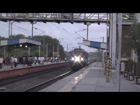 OFFLINK - BRC WAP-4E# 22075 LED SAURASHTRA JANATA EXPRESS LATE EVENING CAPTURE Travel Video