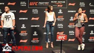 UFC Fight Night Fortaleza - Preguntas y Respuestas con Amanda Nunes y Rafael Dos Anjos