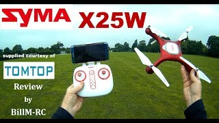 Syma X25W review of Optical Flow WiFi FPV Quadcopter Drone -  Flight & Features Tests (Part II)