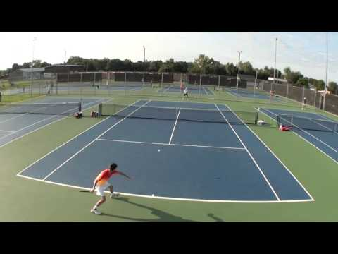 Andrei, 15 years old,  playing an exceptional match at a USTA Midwest L3 tournament