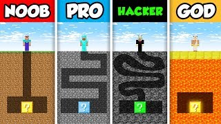 Minecraft NOOB vs. PRO vs. HACKER vs GOD: LUCKY BLOCK MAZE CHALLENGE in Minecraft! (Animation)