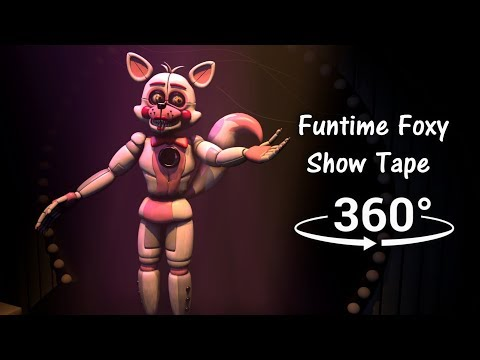 360° Funtime Foxy Show Tape 1986  Five Nights at Freddys Sister Location SFM VR Compatible