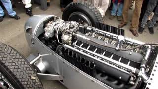 Definitive Auto Union V16 C Type engine warm up - Goodwood Revival 2012 - Silver Arrows