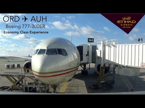TRIPREPORT | Etihad Airways EY150 | Chicago to Abu Dhabi | B777-300ER | Economy Class