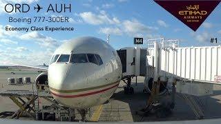 TRIPREPORT | Etihad Airways EY150 | Chicago to Abu Dhabi | B777-300ER | Economy Class