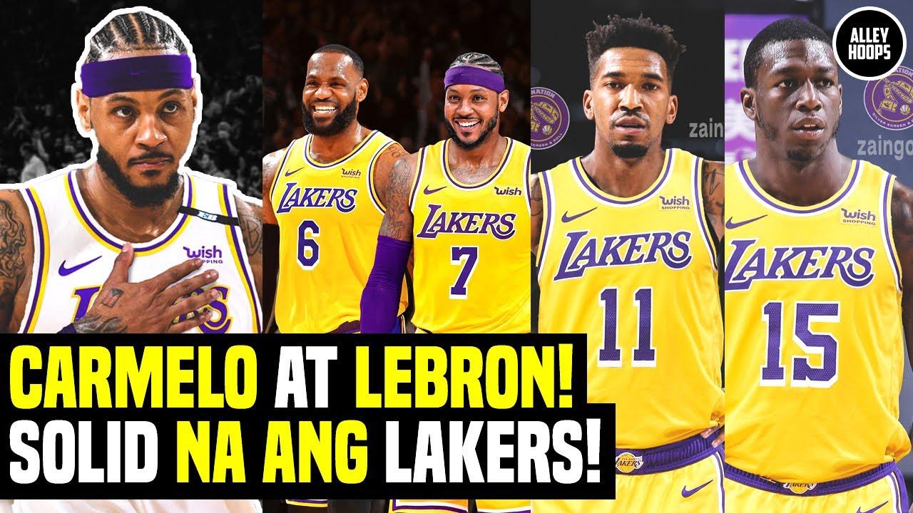 Carmelo at Lebron MAGKAKAMPI na! Lakers Dinagdag si Kendrick Nunn at Malik Monk! Lakers News Today