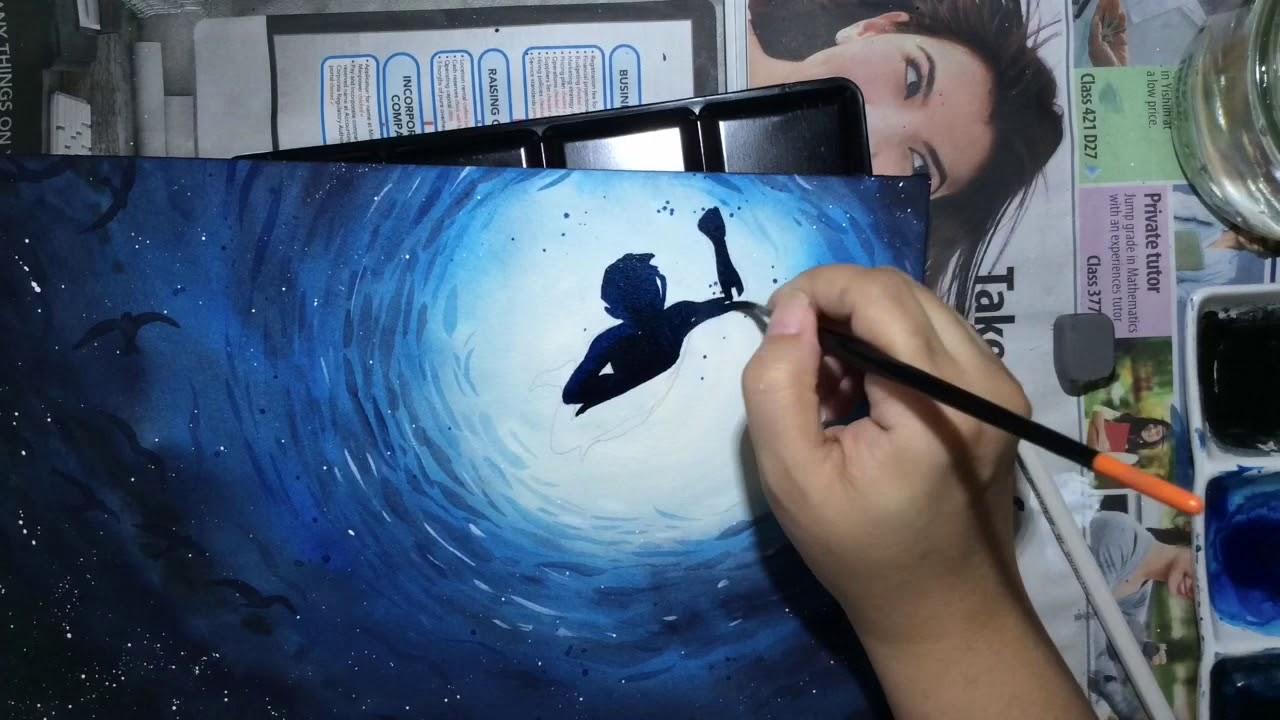Ocean Underwater Watercolour Painting By Leach - YouTube