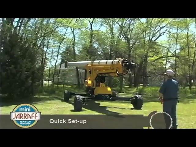 Mini-Jarraff Rear Lot Trimmer Features Demonstration
