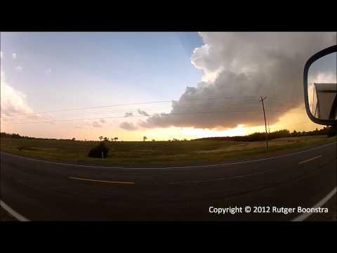 Timelapse near Hays, KS - LP supercell,...