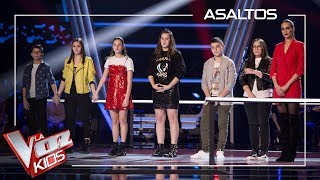 David Bisbal decides which talents go to the semifinal | Knockouts | The Voice Kids Antena 3 2019
