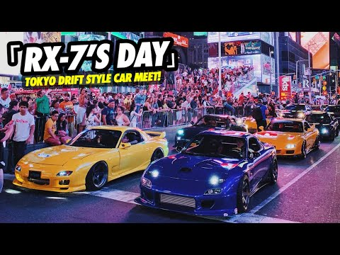 RX-7 DAY 2019! TOKYO DRIFT IN REAL LIFE?!?! INSANE CAR MEET IN TIMES SQUARE NYC !!  | Flipzco™