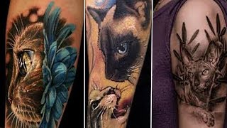 Татуировки для девушек  Татуировка кошка
