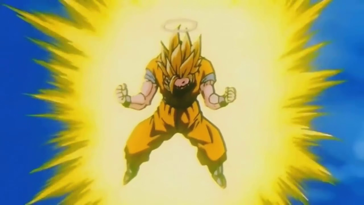 BIG ENOUGH meme - Goku transforms into ss3 - YouTube