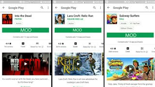 ||MOD||Lara croft relic run, Subway surfers, Into the dead Android Game free Download
