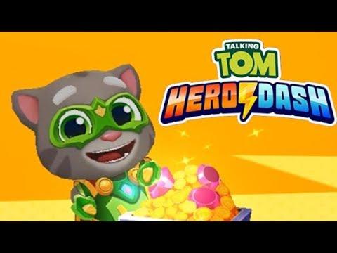 Говорящий Том Погоня Героев #12 Зелёненький Том набегал на Рекорд!