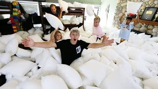 Surprised our CLEANING LADY with 10,000 PILLOWS