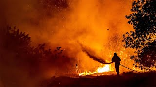 video: British military forces help Cyprus battle 'worst wildfire ever'