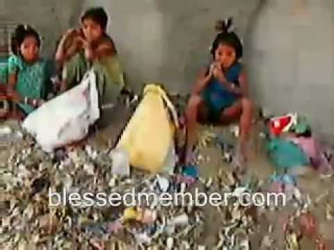 Poor Children Eating From Garbage Youtube