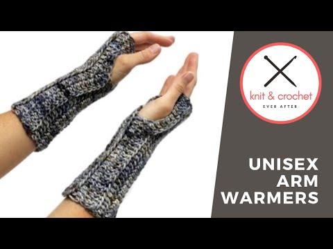 Unisex Arm Warmer Free Pattern Workshop Youtube