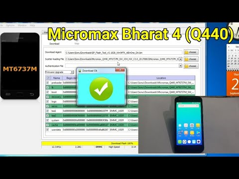 Micromax Bharat 4 (Q440) Flashing firmware by SP Tool