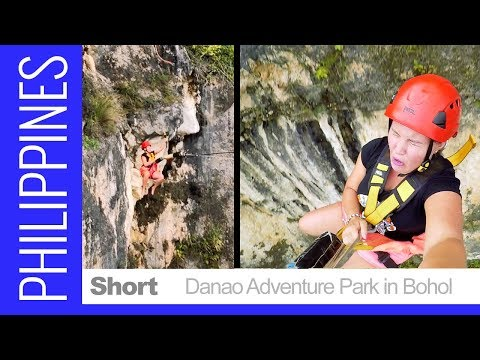 "TERRIFYING & FUN - Canyon Bungee Fall & Swing - ""The Plunge"" Bohol, Philippines"