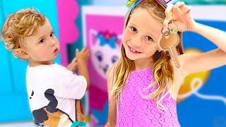 ناستيا تعتني بالطفل و تريد تكون أخت جيدة للبيبي