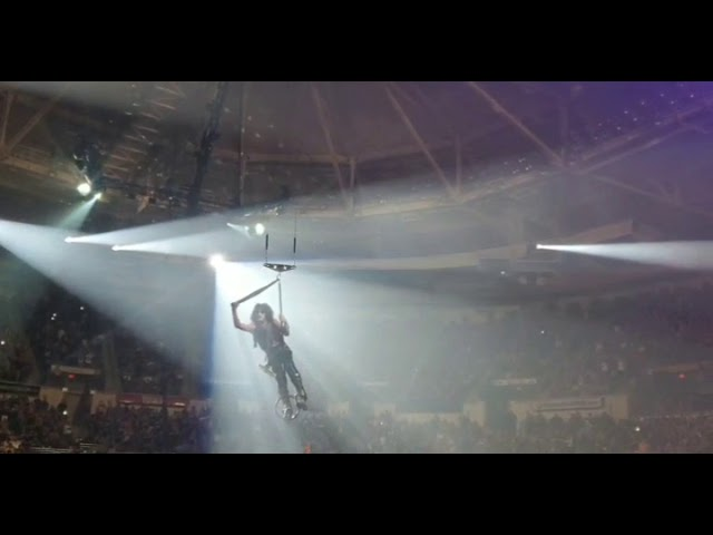 KISS — Paul Stanley flying in Charleston