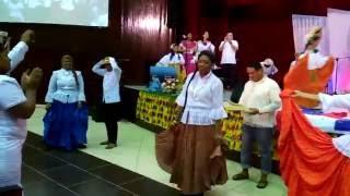 Grupo Las Águilas danzando La Denesa en apertura de nuestro #CultoTípico #Panamá en #CCB