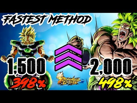 FASTEST METHOD TO GET A LVL 2,000 AND 498% FOR YOUR TEAM!   DRAGON BALL LEGENDS